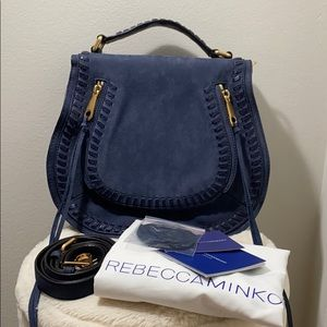 Brand New Rebecca Minkoff Vanity Suede Saddle Bag